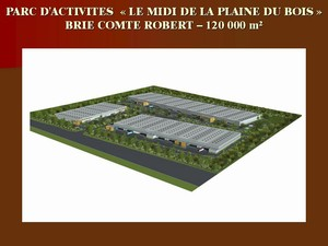 parc d 39 activites le midi de la plaine du bois brie comte robert 120 000 m2 par cab gallois. Black Bedroom Furniture Sets. Home Design Ideas