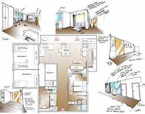 le réaménagement d un appartement de 110m2, dans le centre de Paris ...