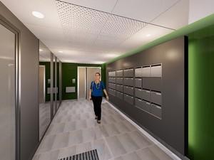images 3d hall d ent e immeuble par missire architecte d interieur d 39 architectures. Black Bedroom Furniture Sets. Home Design Ideas
