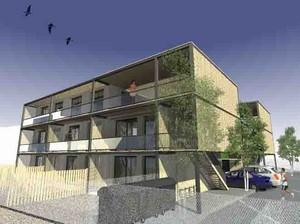immeuble ecologique par modern architecture group d 39 architectures. Black Bedroom Furniture Sets. Home Design Ideas