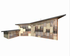 maison cologique cl gu rec par yann roinnel architecte d 39 architectures. Black Bedroom Furniture Sets. Home Design Ideas