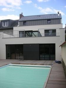 Maison de ville contemporaine à Rennes par Aprime Architecteurs - D ...