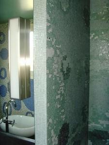 Salle de bain en mosa que de verre infinity 1x1cm st jean de luz 64 part2 2 par casalux for Design de baignoire mosaique