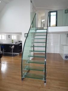 Escalier droit en verre paris 9 me part2 2 par casalux home design d - Escalier en verre design ...