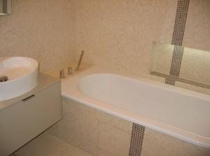 Salle de bain en mosaïque de pierre 1,5x1,5cm (Saint Mandé ...