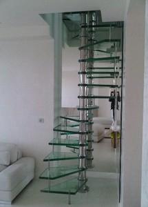 escalier colima on verre et inox paris 8 me par casalux home design d 39 architectures. Black Bedroom Furniture Sets. Home Design Ideas