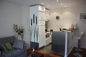 Appartement parisien par kh architecture int rieure d for Cuisine ouverte 35m2