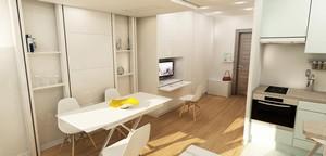 am nagement d un studio issy les moulineaux par agence d architecture int rieure design by. Black Bedroom Furniture Sets. Home Design Ideas