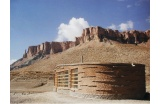 Pavillon d'accueil du Parc national de Band-i-Amir, province de Bamyam, Afghanistan � Feenstra - Cr�dit photo : dr -
