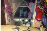 Intervention de Max 132 et Wire pour REHAB2 - Crédit photo : © Bitume Street Art -