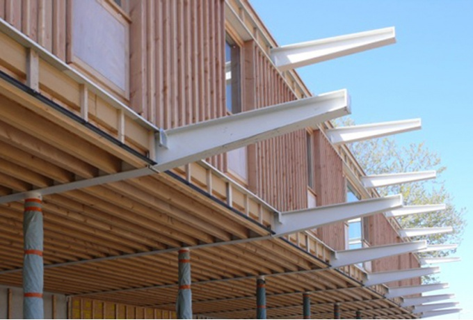 Ecole maternelle platanettes jean carri re n mes d 39 architectures - Anglade structure bois ...