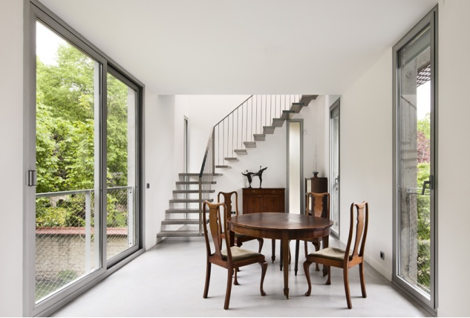 Maison contemporaine, Saint-Germain-en-Laye, Croixmariebourdon Architectures<br/> Crédit photo : BOEGLY Luc