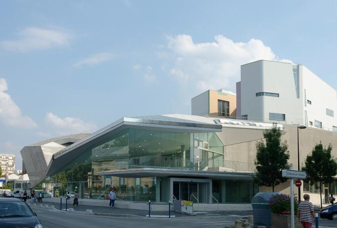 Profondeur nouveau conservatoire et espace culturel - Centre commercial porte d aubervilliers ...