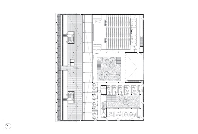 Plan du R+1<br/> Crédit photo : BLOCK architectes -