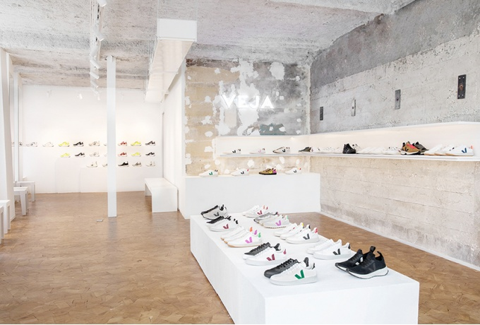 Boutique Veja, Paris, France<br/> Crédit photo : Charpentier Thibault